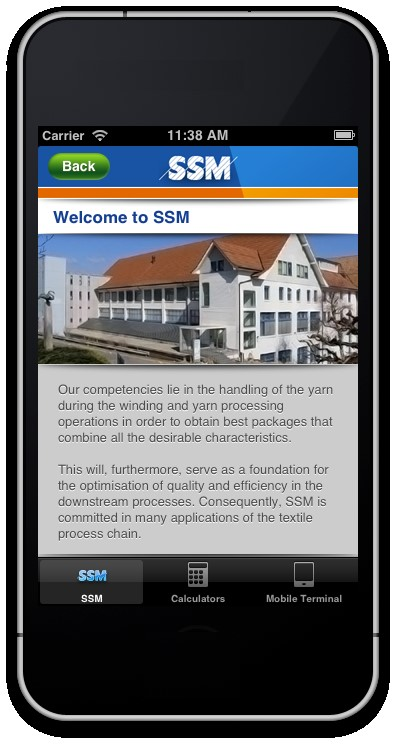 SSM App Print Screen